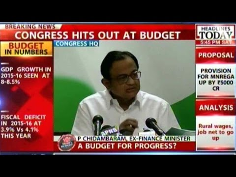 P Chidambaram On Budget 2015, Says It Favors Corporates & Tax Payers