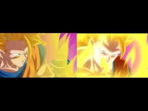 Goku SSJ 3 VS Beerus Comparation DB Super Vs Battle Of Gods