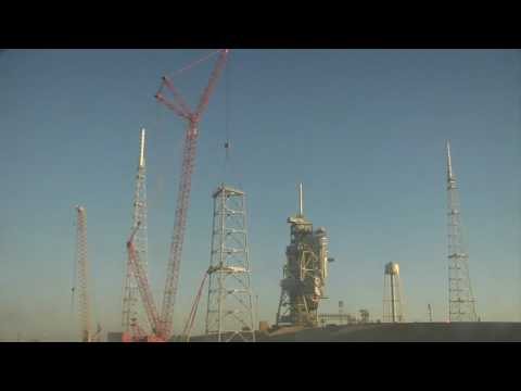 ARES I-X Time Lapse Lightning Mast Tower Construction
