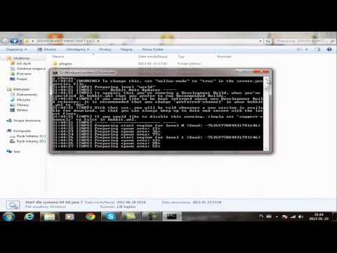Minecraft 1.4.7 gotowy serwer bukkit +2 główne pluginy skonfigurowane