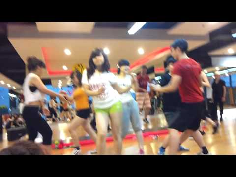 Zumba party at California fitness & yoga