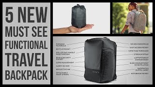5 New Functional Travel Backpack 2018 | Adventure Travel Pack