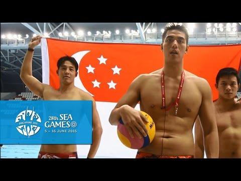 WATERPOLO - Eugene Teo, Loh Zhi Zhi, Paul Tan, Singapore water polo team