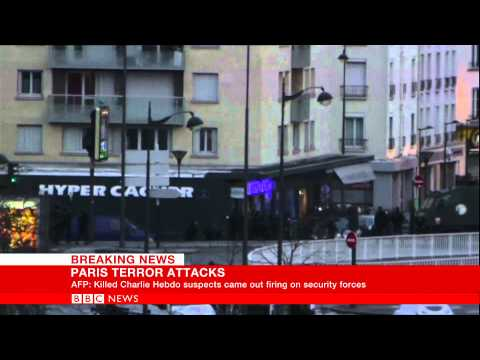 France sieges  Hostages emerge from Paris supermarket  BBC News