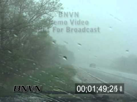 4/21/2005 Hail Storm Video From Saint Mary Nebraska. Large Hail Video