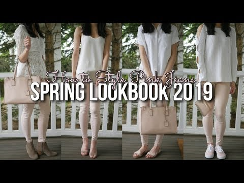 Spring Lookbook 2019 | How to Style Pink Jeans
