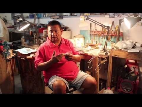 Difference between craft work and handmade jewelry by George Francis Navajo silversmith