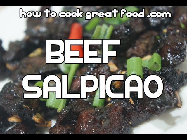 Pinoy Beef Salpicao Recipe Video - Filipino Tagalog
