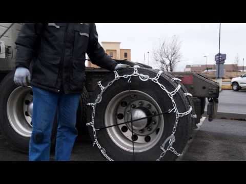 Commercial Vehicle Tire Chain Install