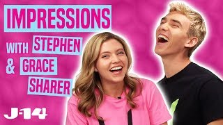 Stephen and Grace Sharer Do Impressions of Rebecca Zamolo, Selena Gomez, and More!
