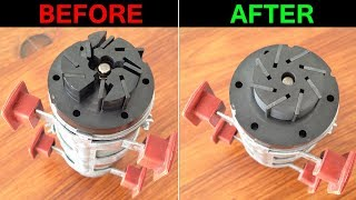 How to fix a central locking vacuum PUMP broken ROTOR - Mercedes SL (R230), CL (C215), S (W220)