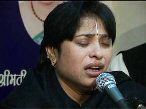 Krishna Bhajan By Alka Goel { Mahamantra } video