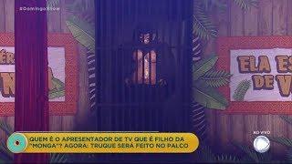 Domingo Show mostra ao vivo o truque da 'Monga'