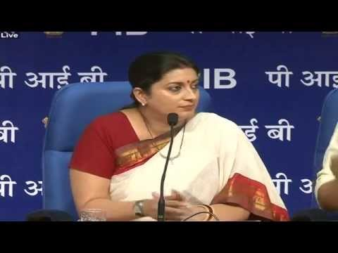 Press Conference by the Union HRD Minister, Smt. Smriti Irani on issues pertaining to the Ministry