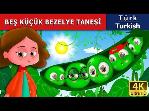 Beş Küçük Bezelye - Masal - çoçuk masalları dinle - 4K UHD - Türkçe peri masallar