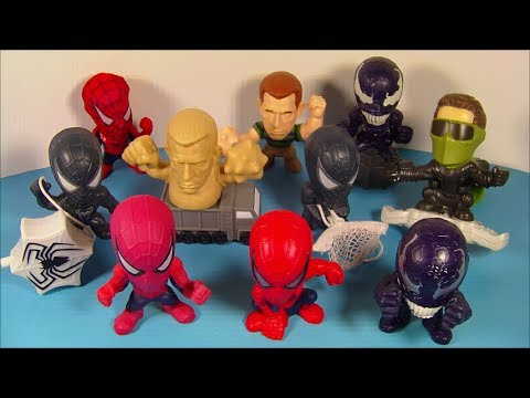 2006 SPIDER-MAN 3 SET OF 10 BURGER KING KID S MEAL MOVIE TOY S VIDEO REVIEW