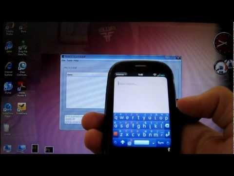 Easy way to get a virtual keyboard on the Palm Pre