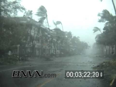 10/24/2005 Footage of Hurricane Wilma hitting downtown Naples Florida