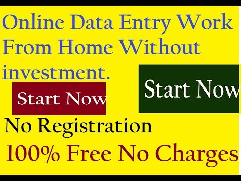 Data entry jobs work from home without investment