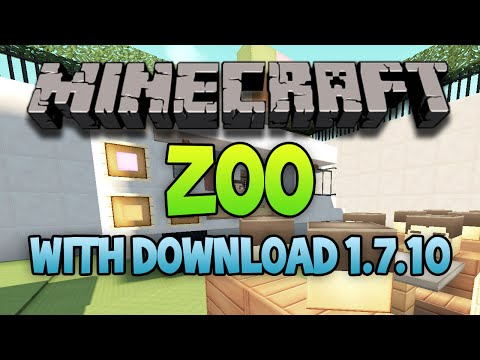 Minecraft: Huge ZOO Map / All Mobs and MORE! 1.7.10 (Download)