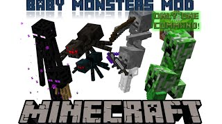 Baby Monsters Mod | Minecraft 1.9 Only One Command