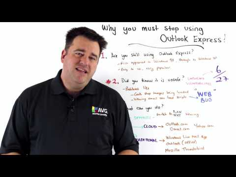 AVG's Michael McKinnon Recommends Why You Must Stop Using Outlook Express