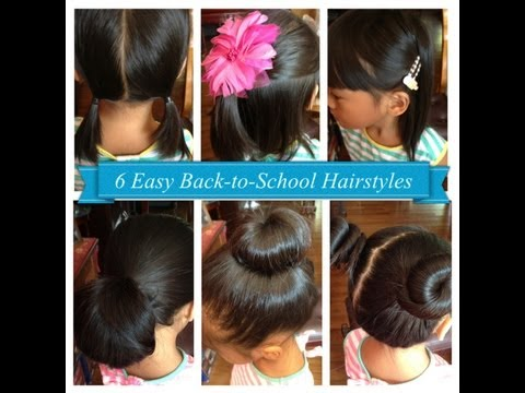 6 Easy Back-to-School Hairstyles for Girls (Short &#038; Long hair)