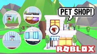 PET SHOP Design Ideas & Building Hacks (Roblox Adopt me) Cages, Training, Grooming | Its SugarCoffee