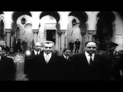 Shah of Iran Mohammad Reza Pahlavi and spouse, Queen Farah, visit Washington DC HD Stock Footage