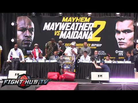 Floyd Mayweather vs. Marcos Maidana 2- Los Angeles press conference & face off