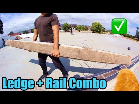 [Rec Center Ledge-to-Rail Combo!]