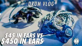 Drum Vlog // $45 in ears vs.  $450 in ears // Daniel Bernard