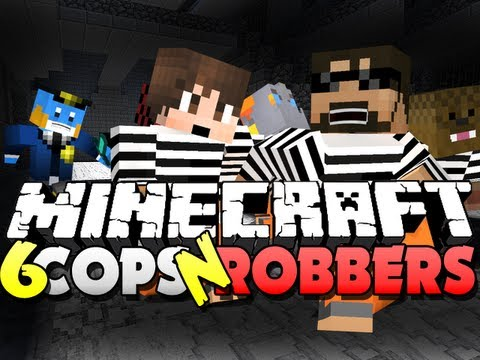 Minecraft Cops and Robbers 6 - HAVE MY BLOOD!! (Bajan, Jerome, Husky and Nooch)