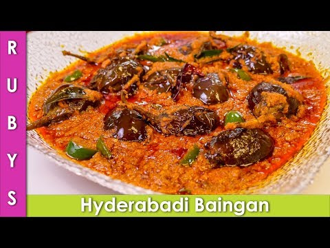 Baingan Hyderabadi Style Stuffed Masala Eggplant Recipe in Urdu Hindi  - RKK