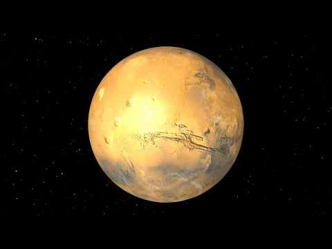 Rotation de la planète Mars