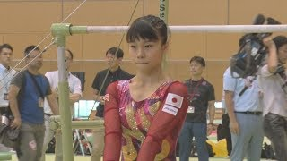 世界体操へ女子が合宿公開