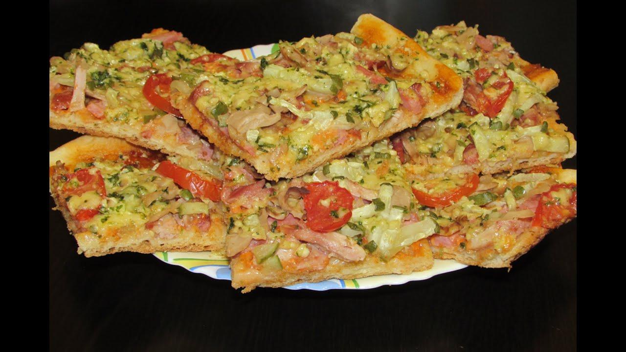 Рецепт пиццы в домашних условиях для детей