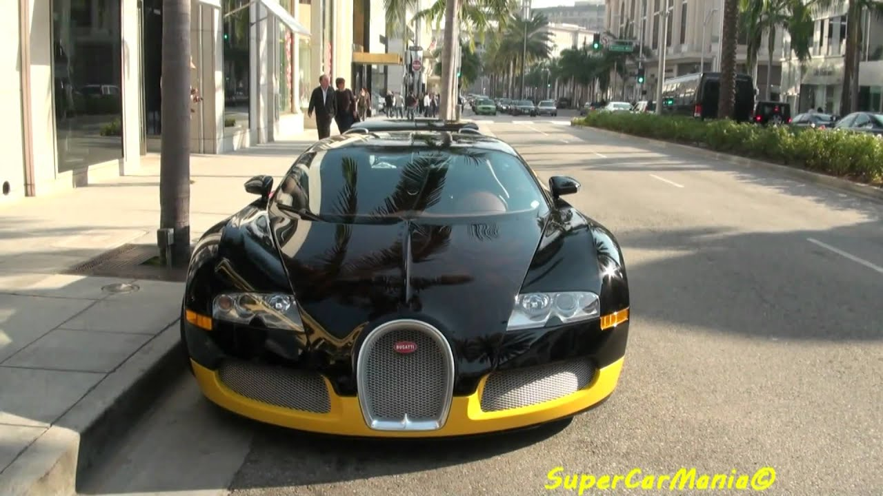 Black Amp Yellow Bugatti Veyron Youtube