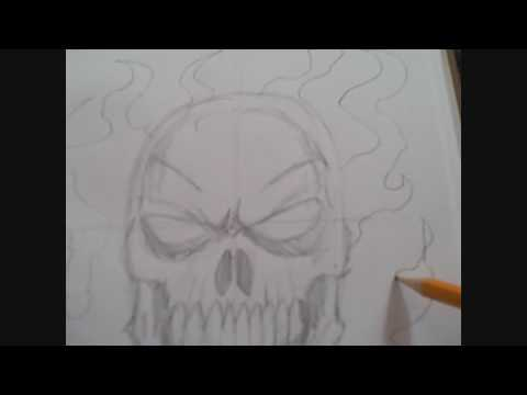 How To Draw A Flaming Skull Step Five Video