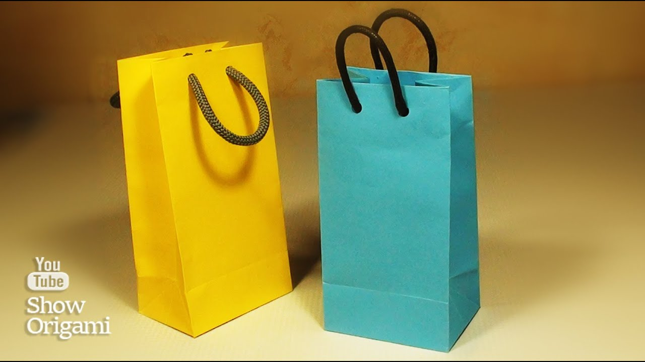 How to make a paper bag with their hands. A very simple way. - YouTube