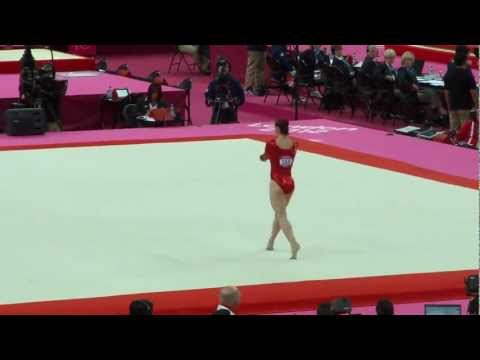 Hannah Whelan Olympics 2012 Qualification Floor FX