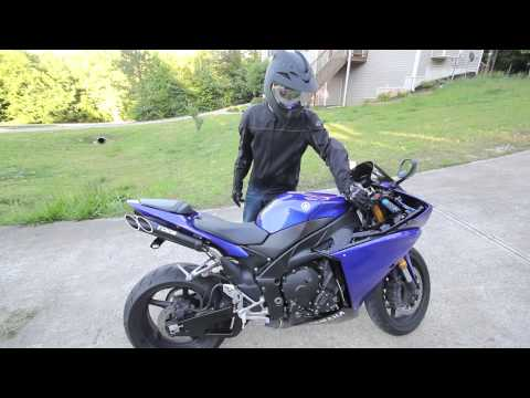 2009 YAMAHA R1 EXHAUST / Toce T-Slash Fly-by