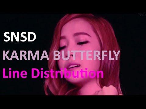 Girls Generation ► Karma Butterfly [Line Distribution]