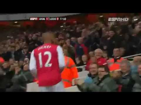 Arsenal Vs Leeds 1-0 Thierry Henry Goal (english C video