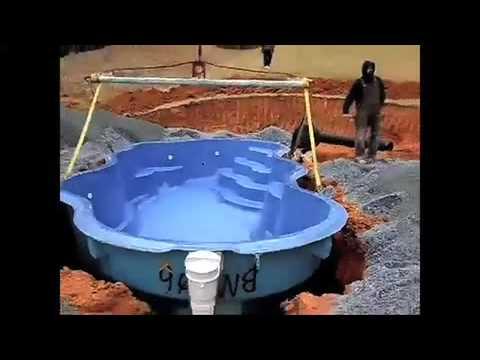 Fiberglass inground swimming pools youtube for Fiber glass cost