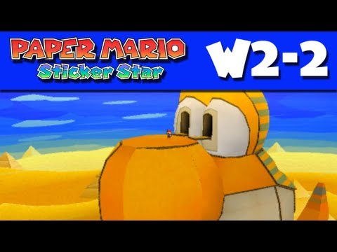 Paper Mario Sticker Star - Gameplay Walkthrough World 2-2 - Yoshi Sphinx (Nintendo 3DS)