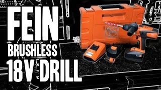 FEIN Brushless 18v Drill (4-speed / Removable Chucks) ASCM 18 QX - MADE IN GERMANY
