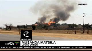 Thohoyandou lodge on fire