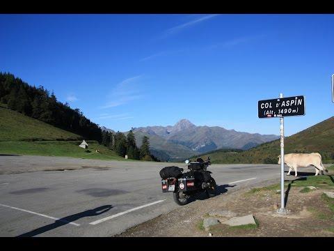 Motorrad Reise Pyrenäen mit BMW R100GS Oktober 2015