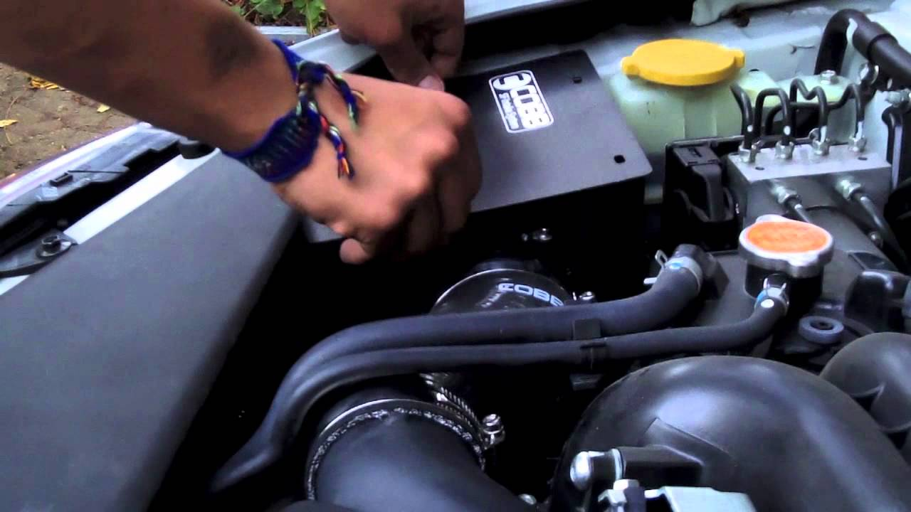 Cobb Sf Intake And Air Box Installed On A 2011 Wrx Youtube